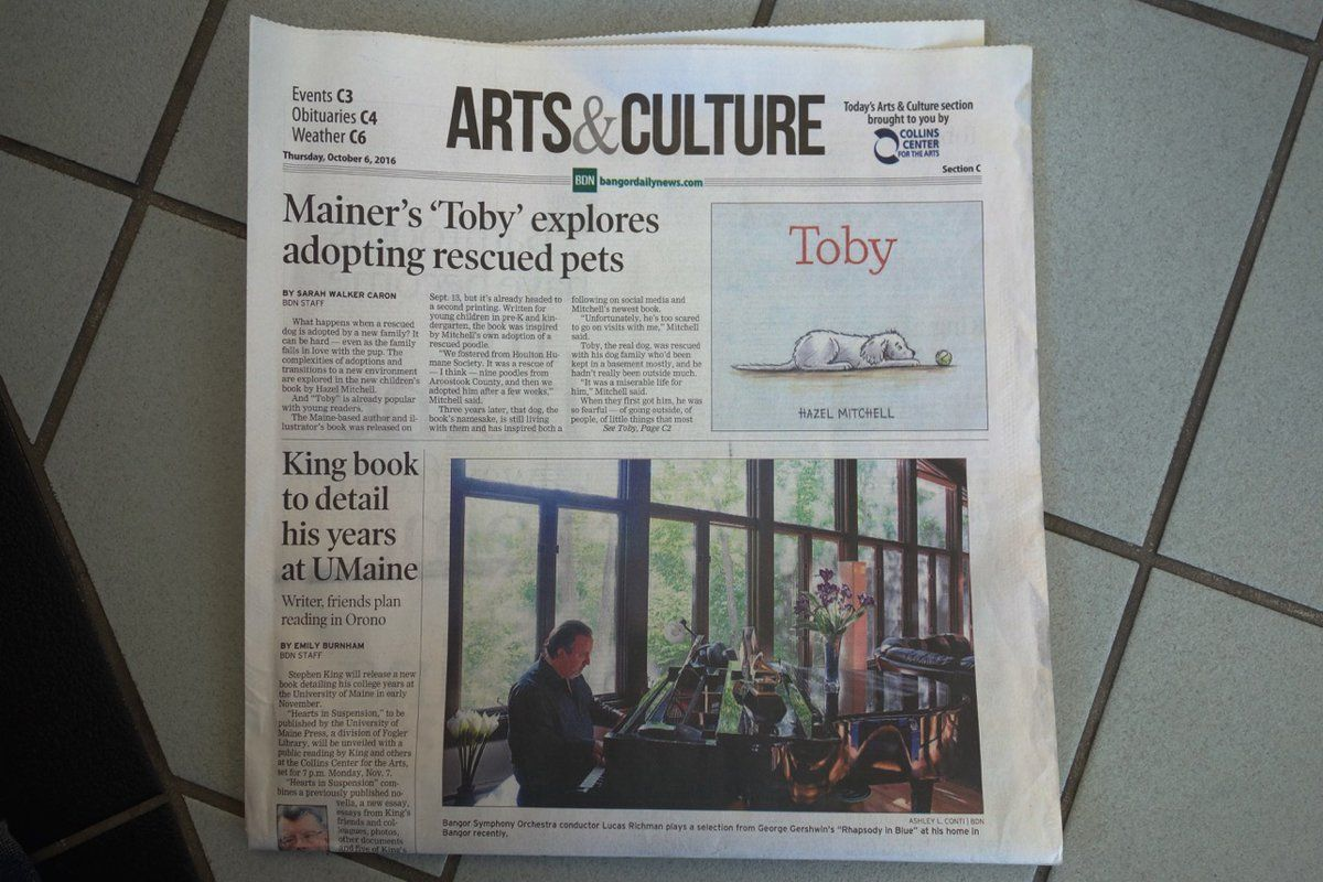 Toby made headlines today (and above Stephen King, too