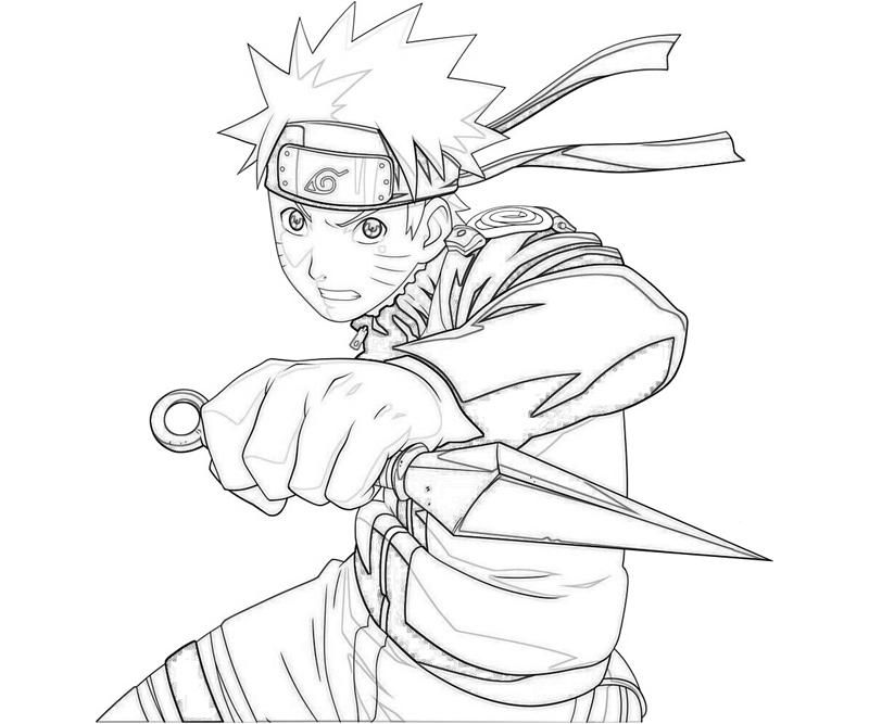Naruto Coloring Pages Holding Kunai Coloringstar Home Furniture