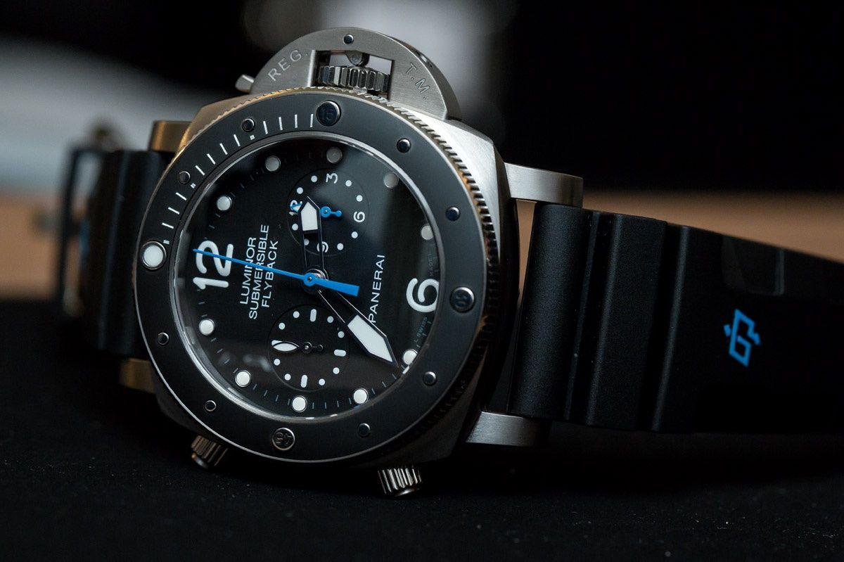 b6cbcdb62a23 Panerai Luminor Submersible 1950 3 Days Chrono Flyback Automatic Titanium  PAM 615 Watch