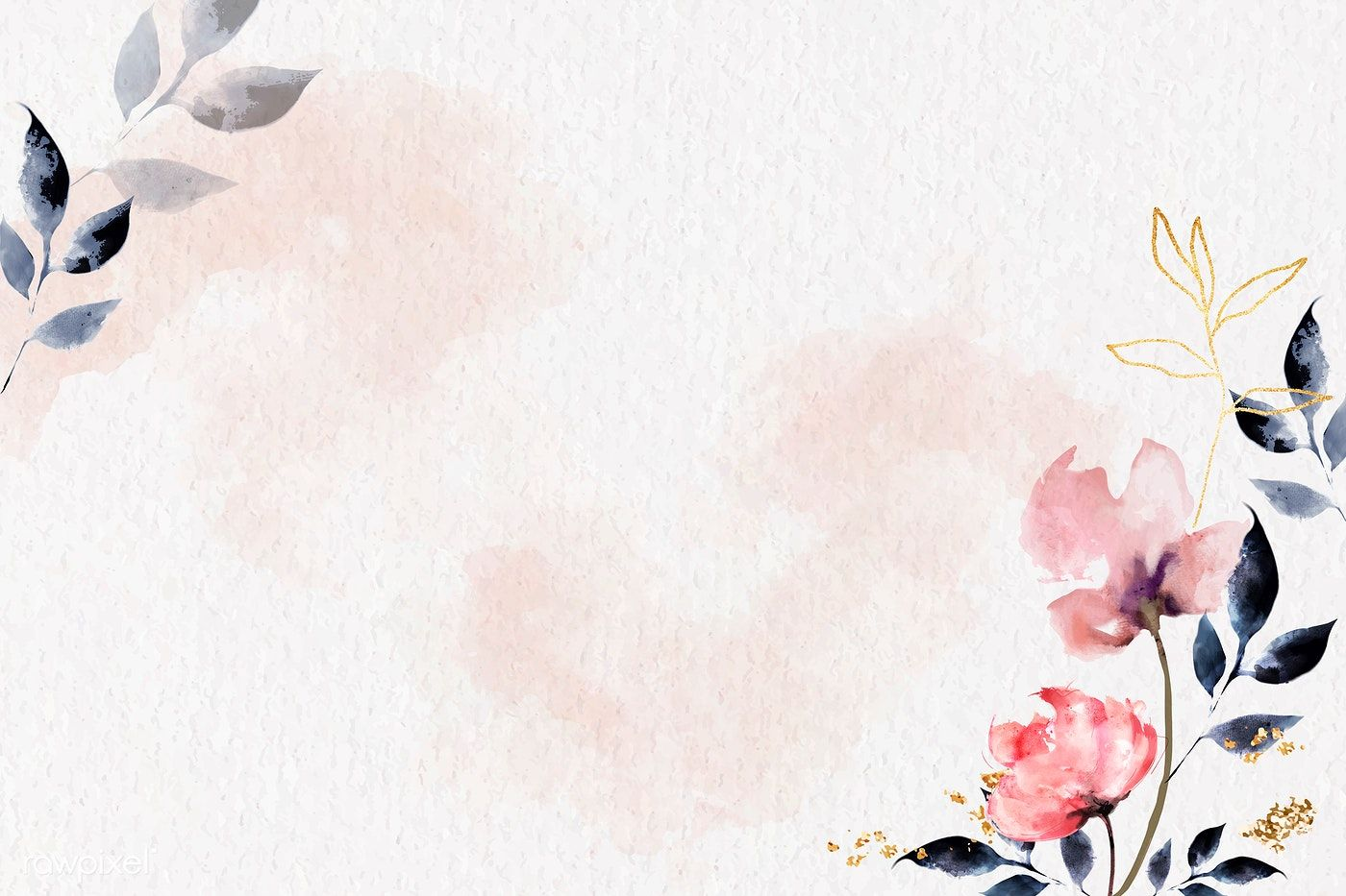 Download Premium Illustration Of Shimmering Watercolor Floral