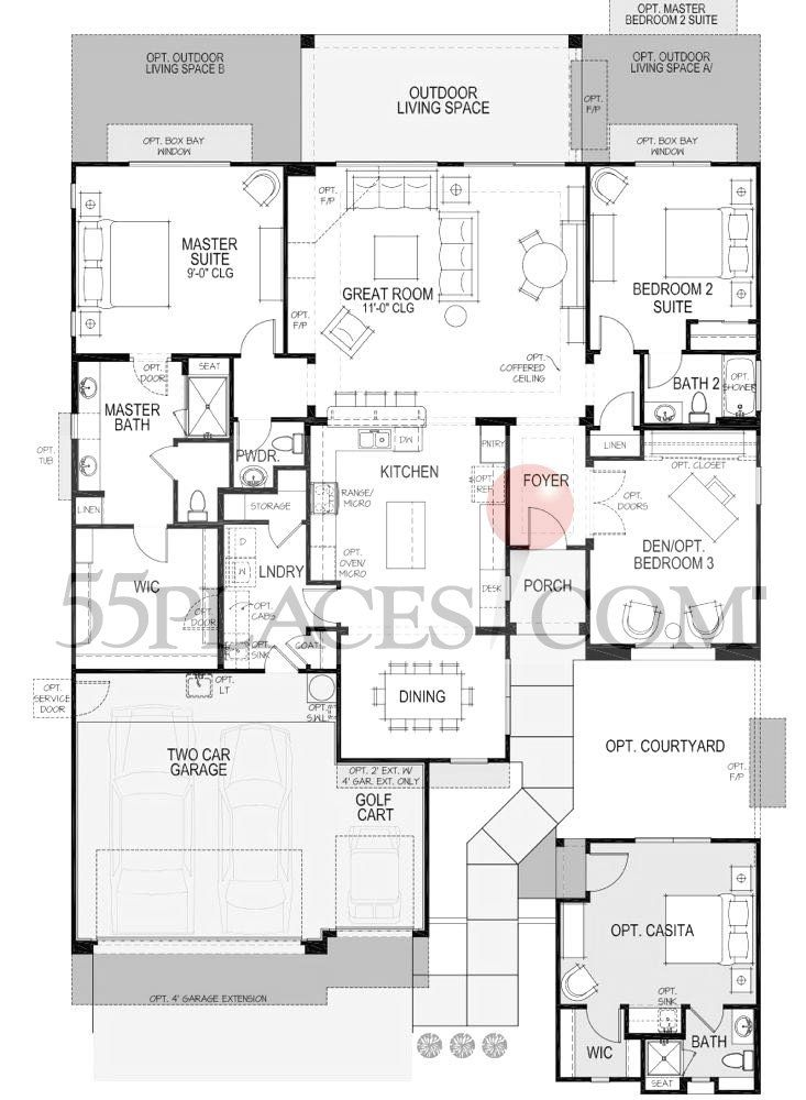 Lexington Floorplan | 2169 Sq. Ft. | Robson Ranch - Texas | 55 ...
