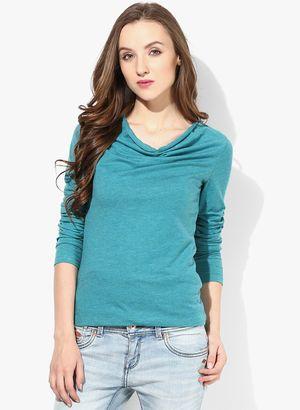 Buy Blue Sequin Black Printed Shirt for Women Online India, Best ...
