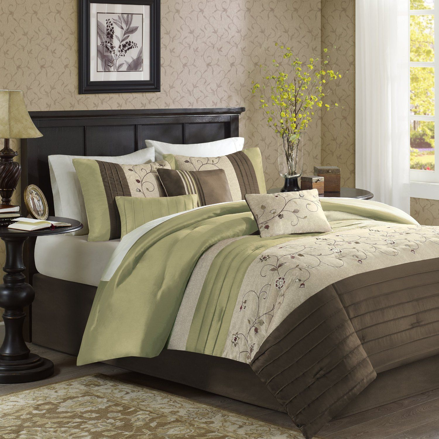 Green Bedding Collections Cool Calm and Serene Bedroom