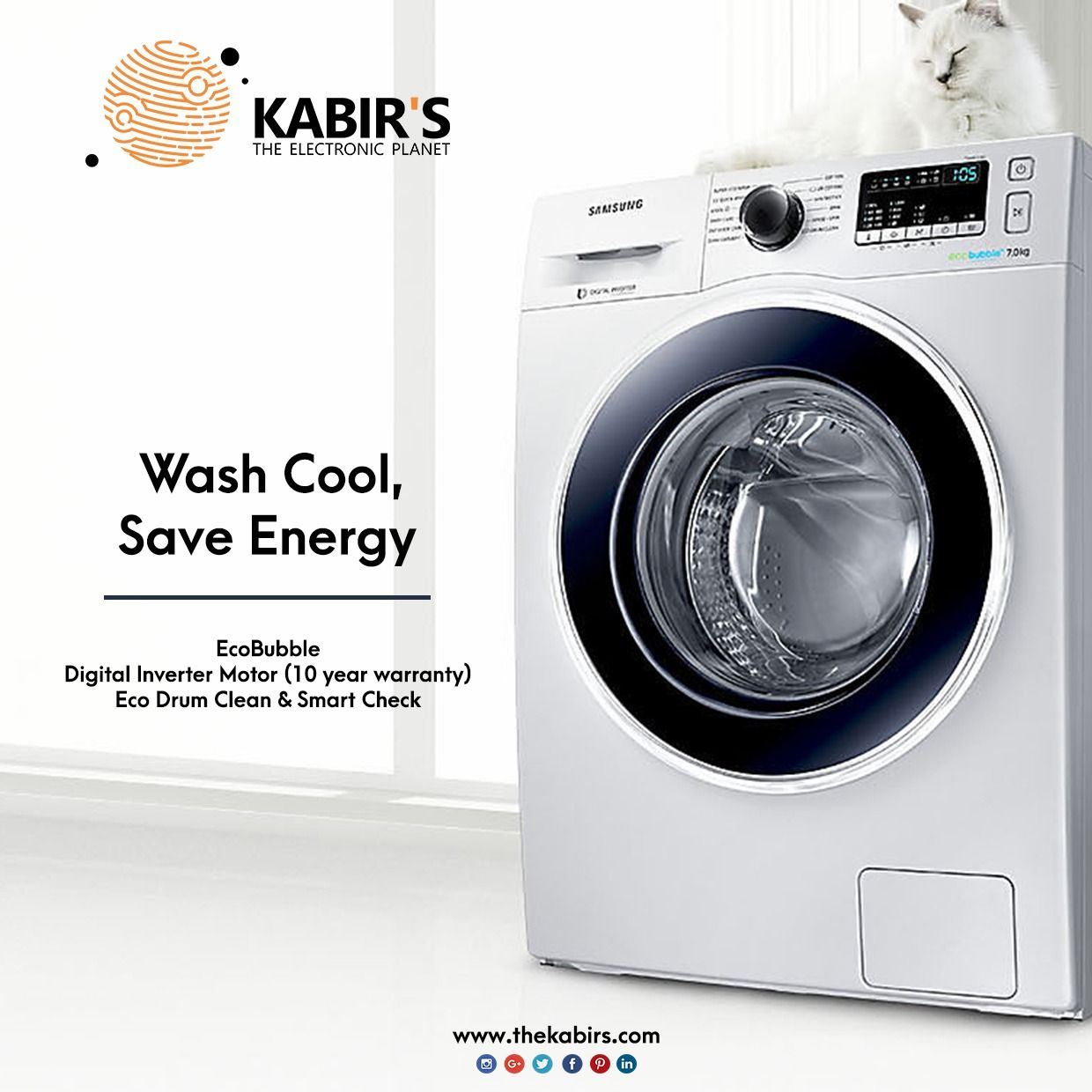 Wash Cool And Save Energy With Samsung Washing Machine Let S Make Your Washing Easy With Exciting Of Samsung Washing Machine Home Appliances Appliances Online