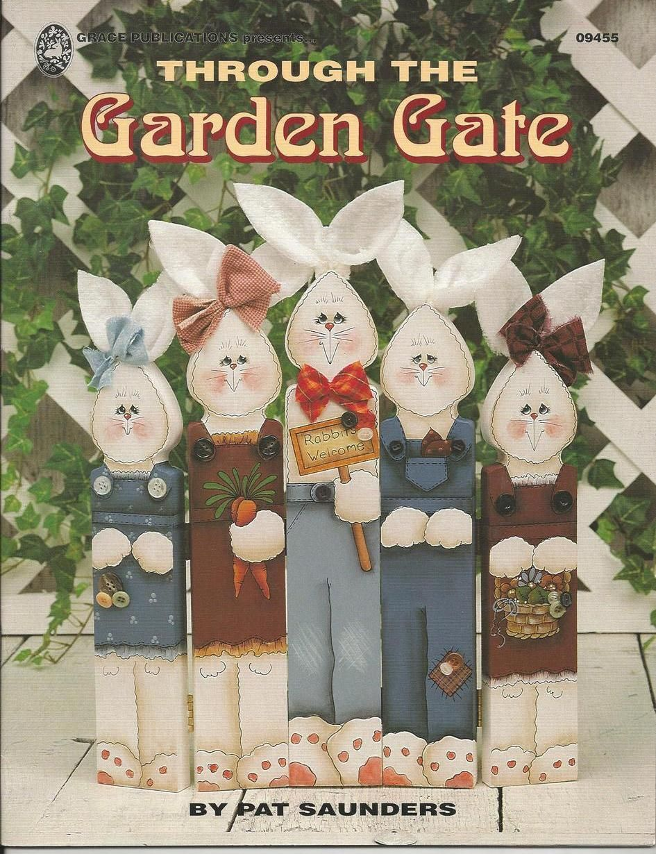 Through The Garden Gate Decorative Tole Painting Craft Book By Pat