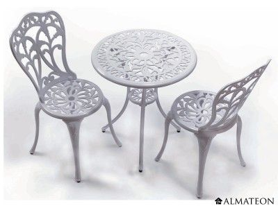 salon de jardin romantique en aluminium mod le romance. Black Bedroom Furniture Sets. Home Design Ideas