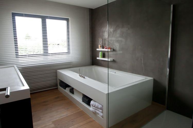 Idee voor raam als we de badkamer vooraan zouden doen mortex wand interieur beneden - Idee voor badkamers ...