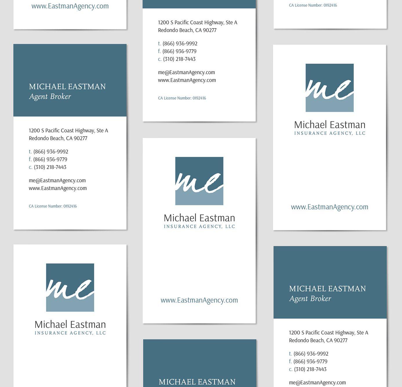 Logo Branding Design Business Card Design For Michael Eastman Insurance Agency An Insuran Business Card Branding Business Card Design Branding Design Logo