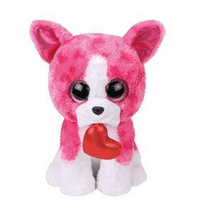 67b4ce9e878 TY Beanie Boo Small Romeo the Pink Bulldog Soft Toy