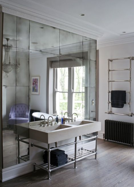 Use Of Rectangle Mirrors Don T Like Antiqued Look For Basement Use Square Mirror Wall Tiles Antique Mirror Wall Mirror Wall Bathroom