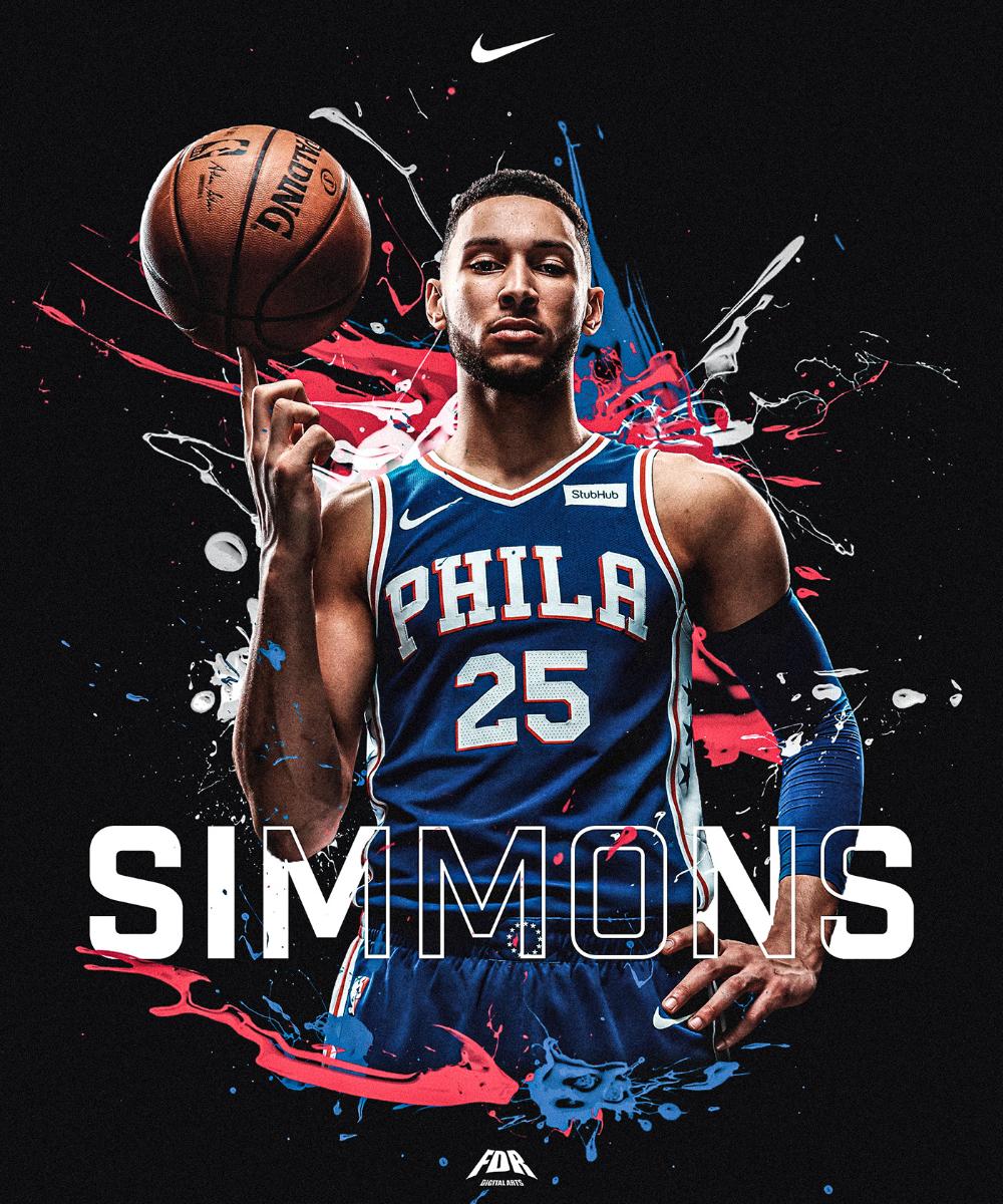 Ben Simmons Philadelphia 76ers Nba On Behance Ben Simmons Philadelphia 76ers Nba
