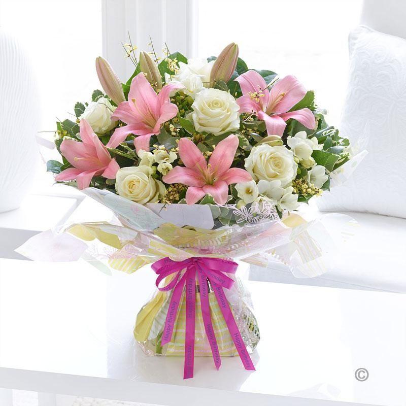 Birthday Gift Set Happy Birthday Spring Rose Lily and