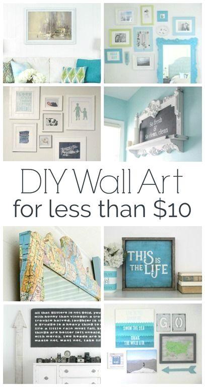 22 home decor for cheap diy wall art ideas