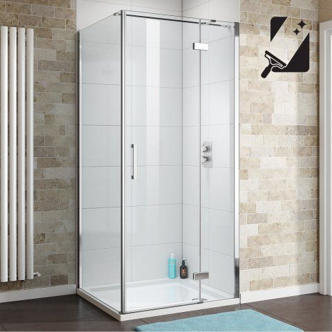 1200mmx800mm Easyclean Hinged Door Shower Enclosure 8mm Thick Glass Soak Com Glass Shower Enclosures Frameless Shower Enclosures Shower Enclosure