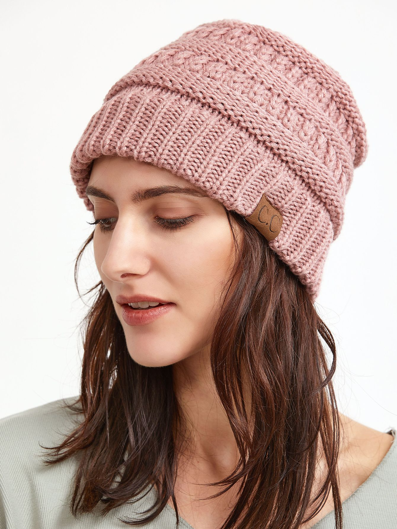 8ea3a690b12 Shop Pink Crochet Knitted Beanie Hat online. SheIn offers Pink Crochet  Knitted Beanie Hat   more to fit your fashionable needs.