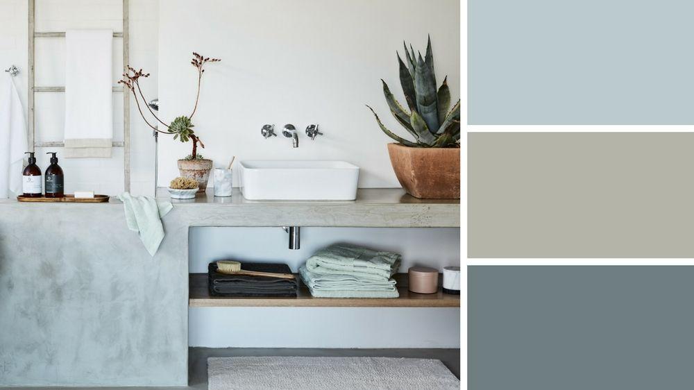 Salle de bains : les couleurs tendance 2018 | Salles de bain | Pinterest