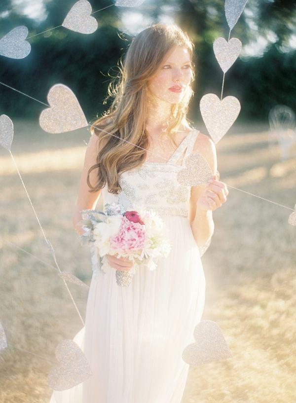 Especially like the silver bouquet tie ~ Jose Villa   Fine Art Weddings