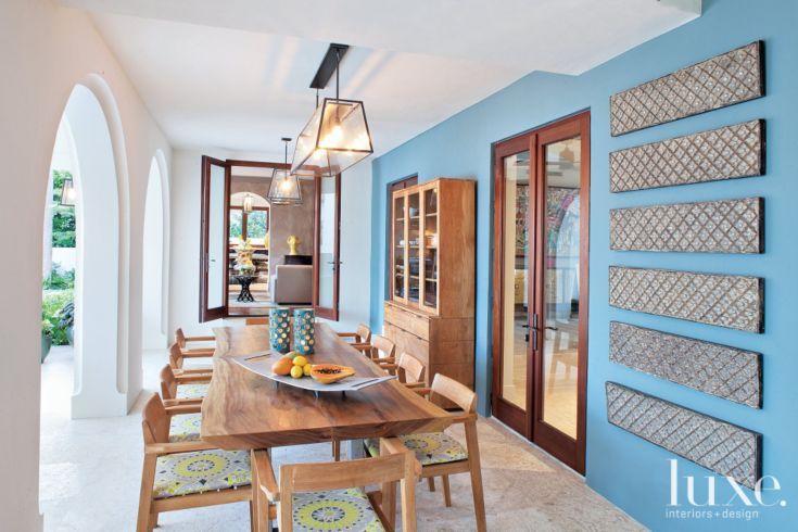 Blue Mediterranean Loggia and Dining Area