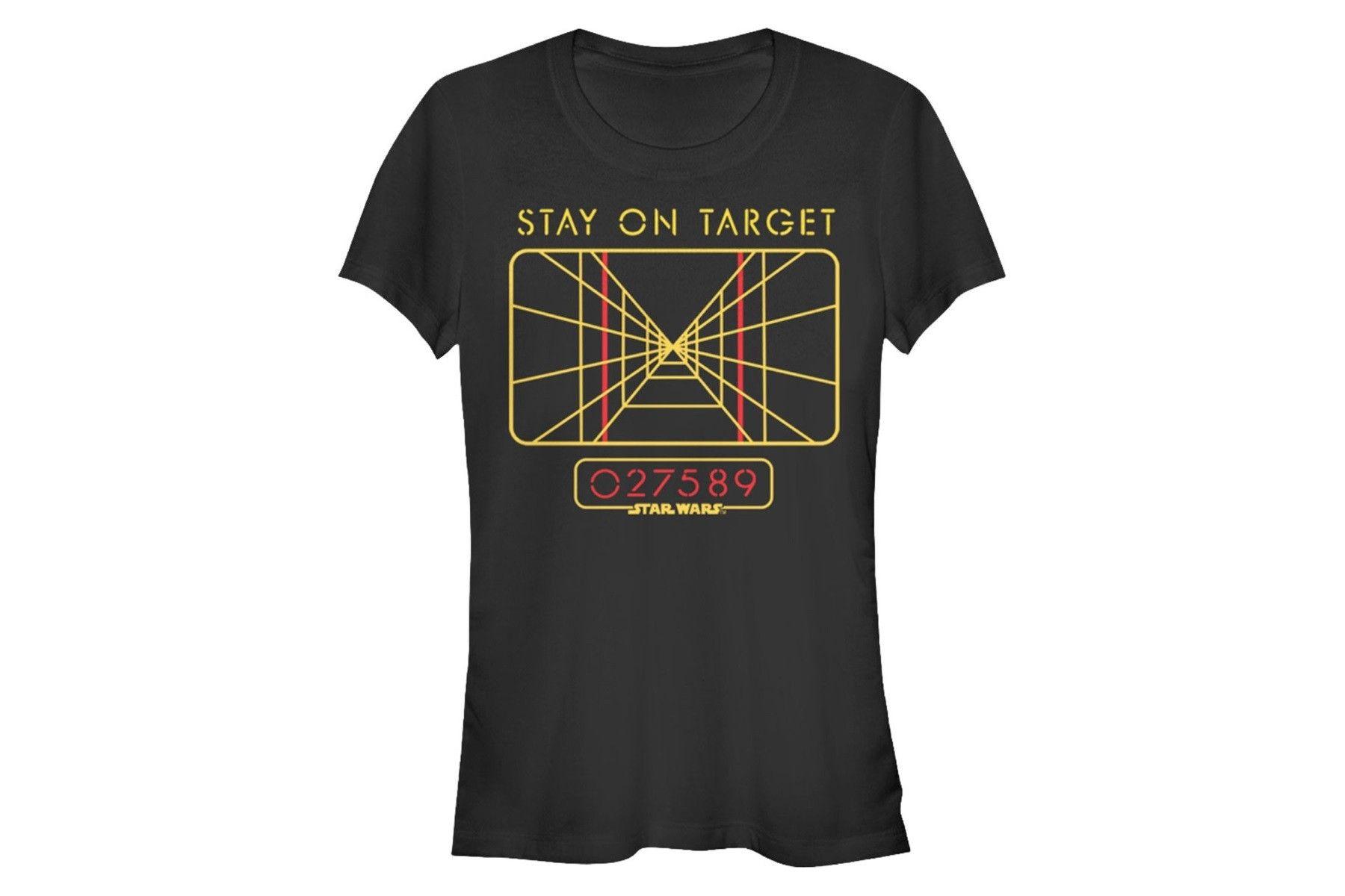 http://www.thekesselrunway.com/womens-stay-target-tee-80s-tees/ #thekesselrunway #starwarsfashion