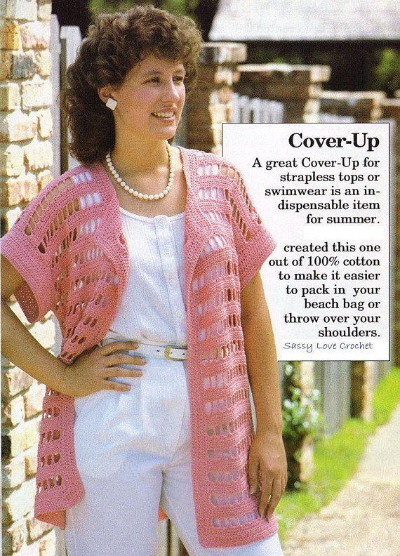 Crochet Pink Cover up Summer Beach Top Pattern Crochet | blusas ...