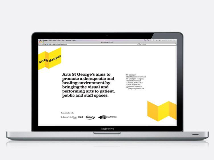 Arts st website on ipad with images saint