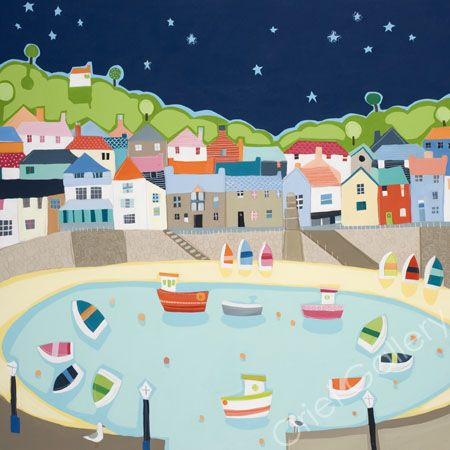 Mousehole Evening by Janet Bell