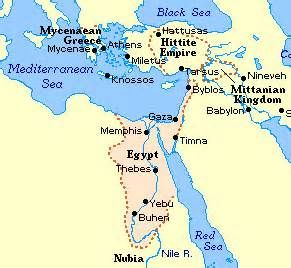 Map Of Ancient Egypt During The New Kingdom 1570 1080 Bc Map Created