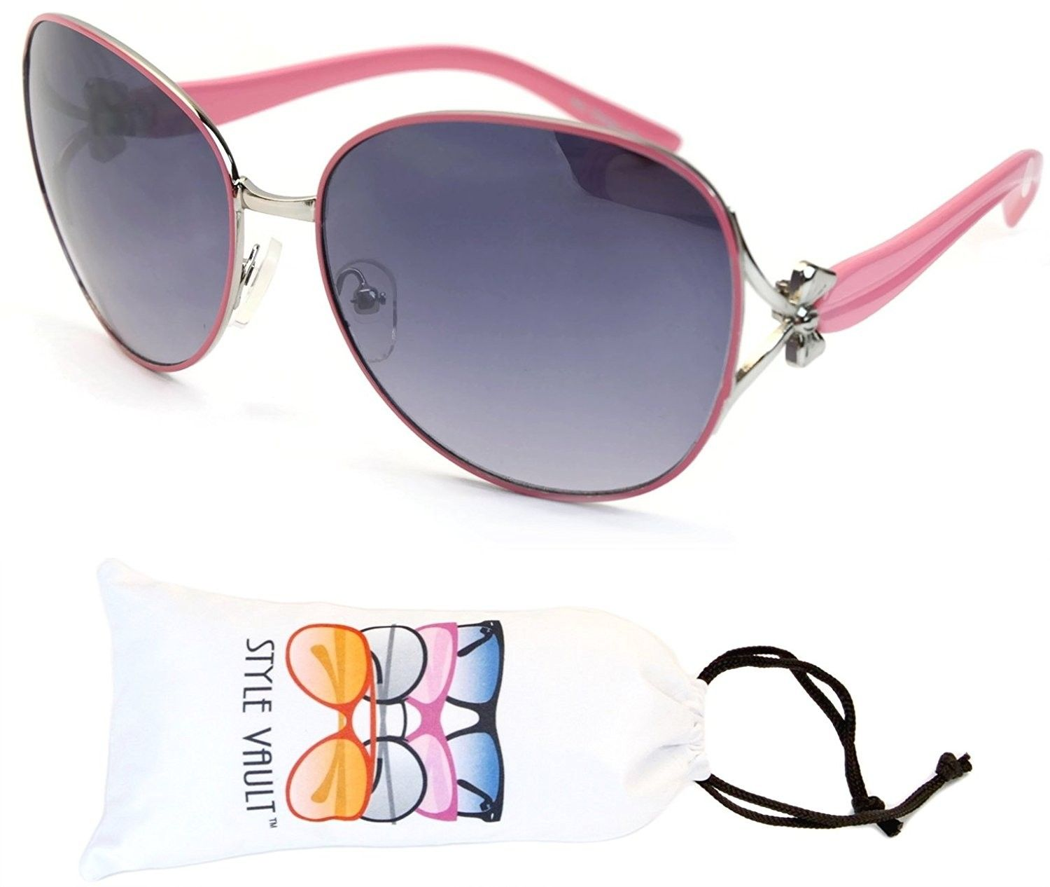 15437fe19c Wm551-vp Metal Butterfly Unique Sunglasses - O2672b Pink Silver-smoked -  C212FUAU6GX - Women s Sunglasses