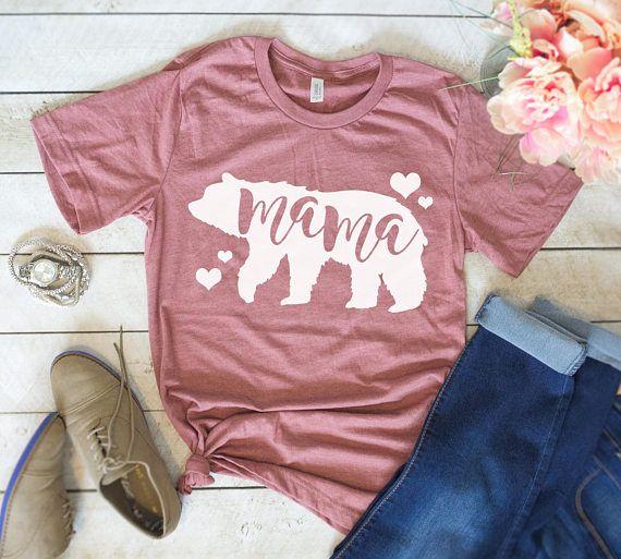 775117e8f3dad Mama Bear Shirt - Graphic Tee - Cute Top - Cute Shirt - Mom Shirt - Tired  AF - Mommy Shirt - Mama - Mom