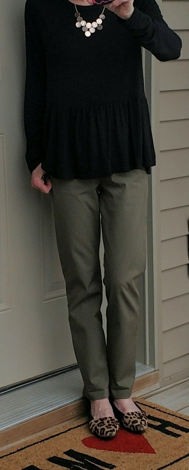 Stitch Fix Liverpool Kristy Straight Leg Pant in Olive Green. Because sometimes I can't wear my boyfriend's!