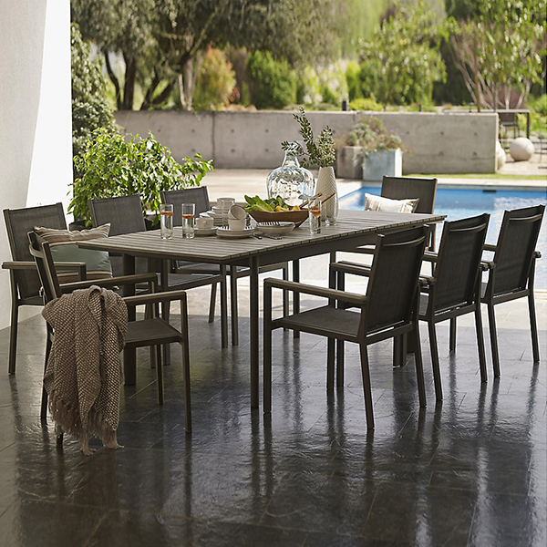 Just Home Collection Comedor Aluminio-Polywood 9 piezas ...