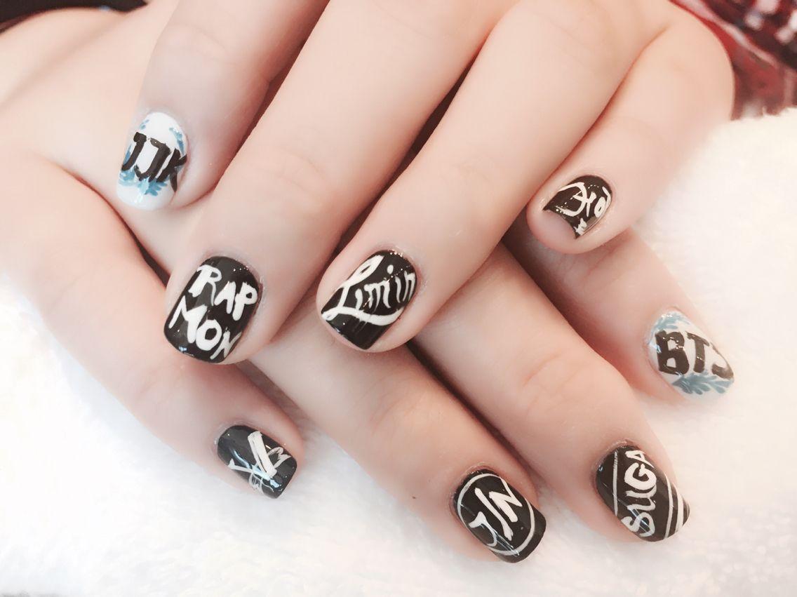 Bts Kpop Nails Art Design Venusnaiayspa