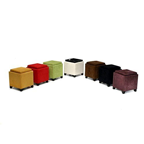Armen Living 530 Microfiber Storage Ottoman Black >>> You can get more details by clicking on the image.Note:It is affiliate link to Amazon.