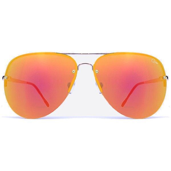 Quay Australia Muse (550 SEK) ❤ liked on Polyvore featuring accessories, eyewear, sunglasses, womens-fashion, aviator style sunglasses, mirror lens aviator sunglasses, uv protection sunglasses, aviator glasses and uv protection glasses