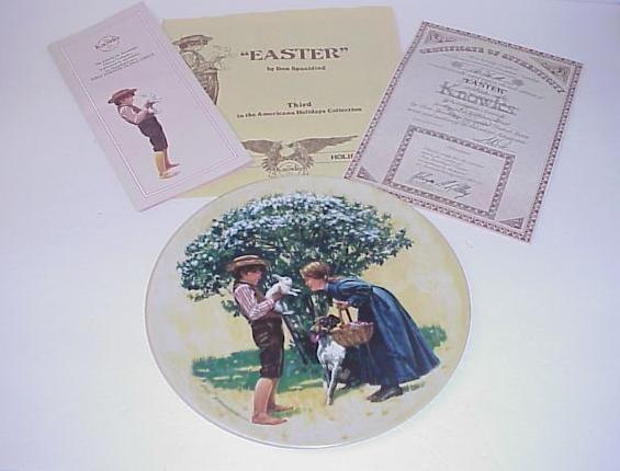 Knowles Easter Don Spaulding Plate in Box