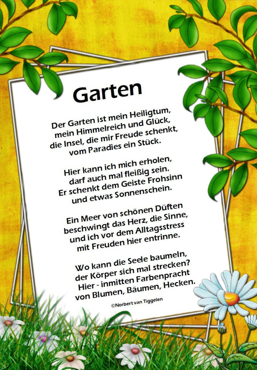 Pin Von Petra Beetz Auf Wandtattoo Spruche Garten Gedichte Und Spruche Garten Zitate