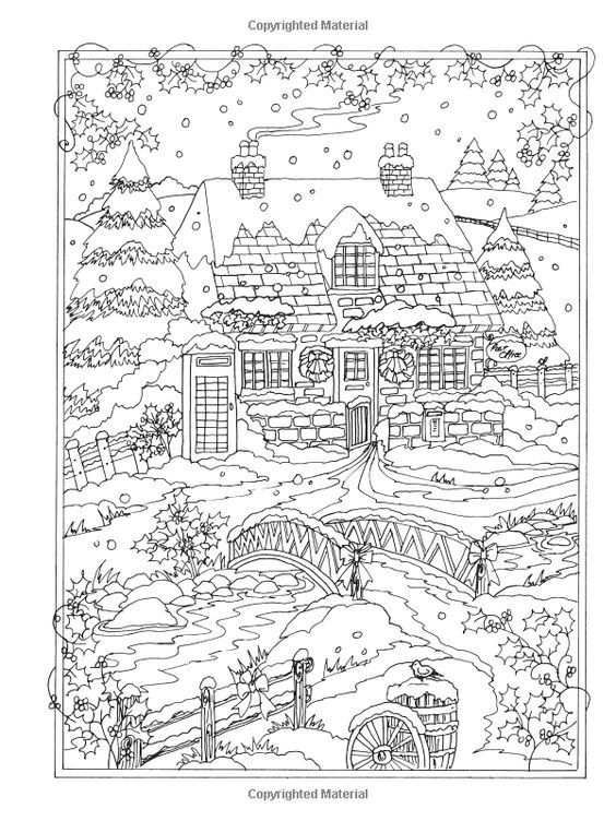 Coloring Pages For Winter Wonderland. Amazon com  Creative Haven Winter Wonderland Coloring Book Adult 9780486805016
