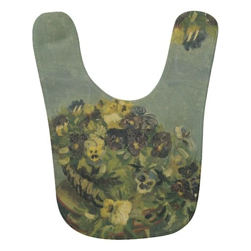 Basket of Pansies on a Small Table by Van Gogh Baby Bibs