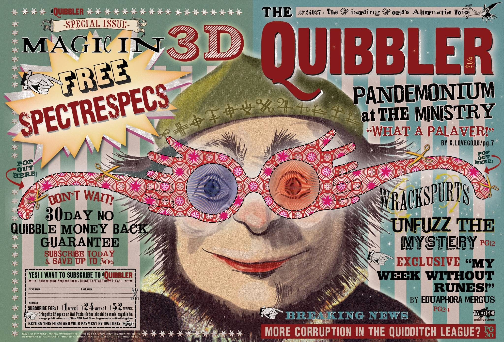 image about Printable Quibbler known as In opposition to the Marauders Map in the direction of The Quibbler: Impression artwork versus