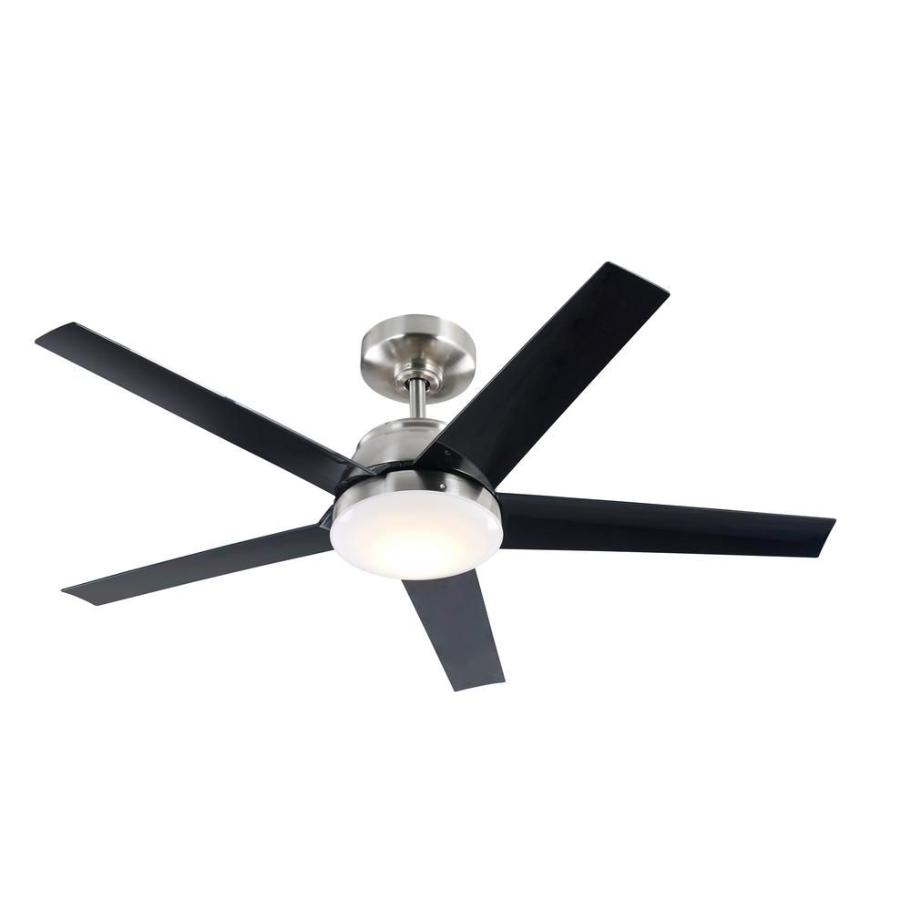 Home Decorators Collection Patomo 52 In Integrated Led Indoor Brushed Nickel Dc Ceiling Fan With Light Kit And Remote Control Fc132 Bvrl Bn Dc Ceiling Fan Ceiling Fan Black Ceiling Fan