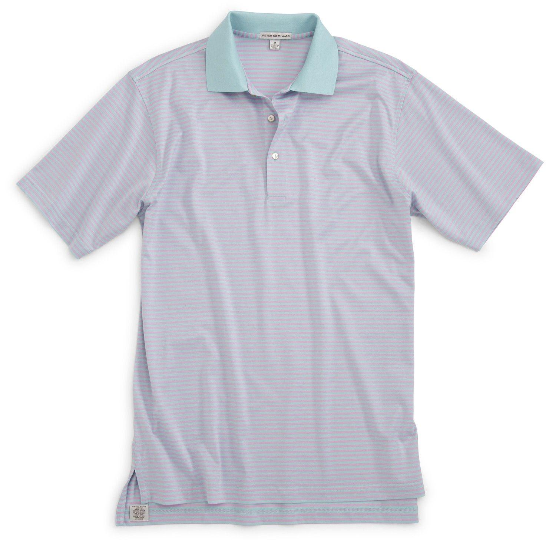Classic stripe mercerized cotton polo cotton golf