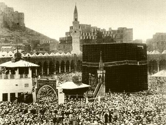 oldest surviving picture of the Ka'bah, from the 19th century.