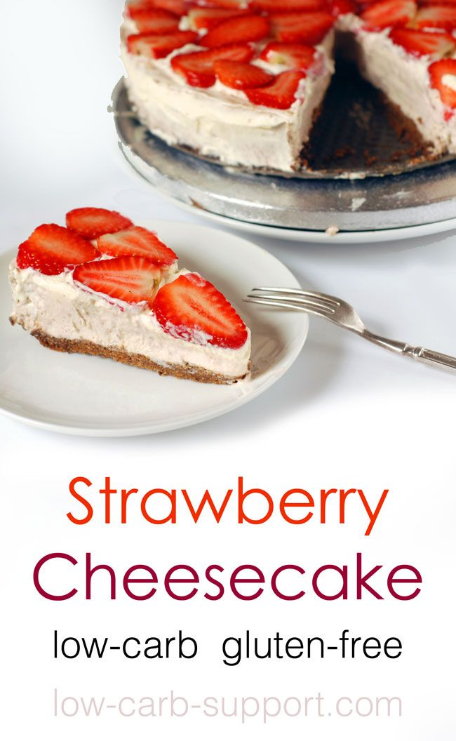 Low-carb strawberry cheesecake, 4g net carbs