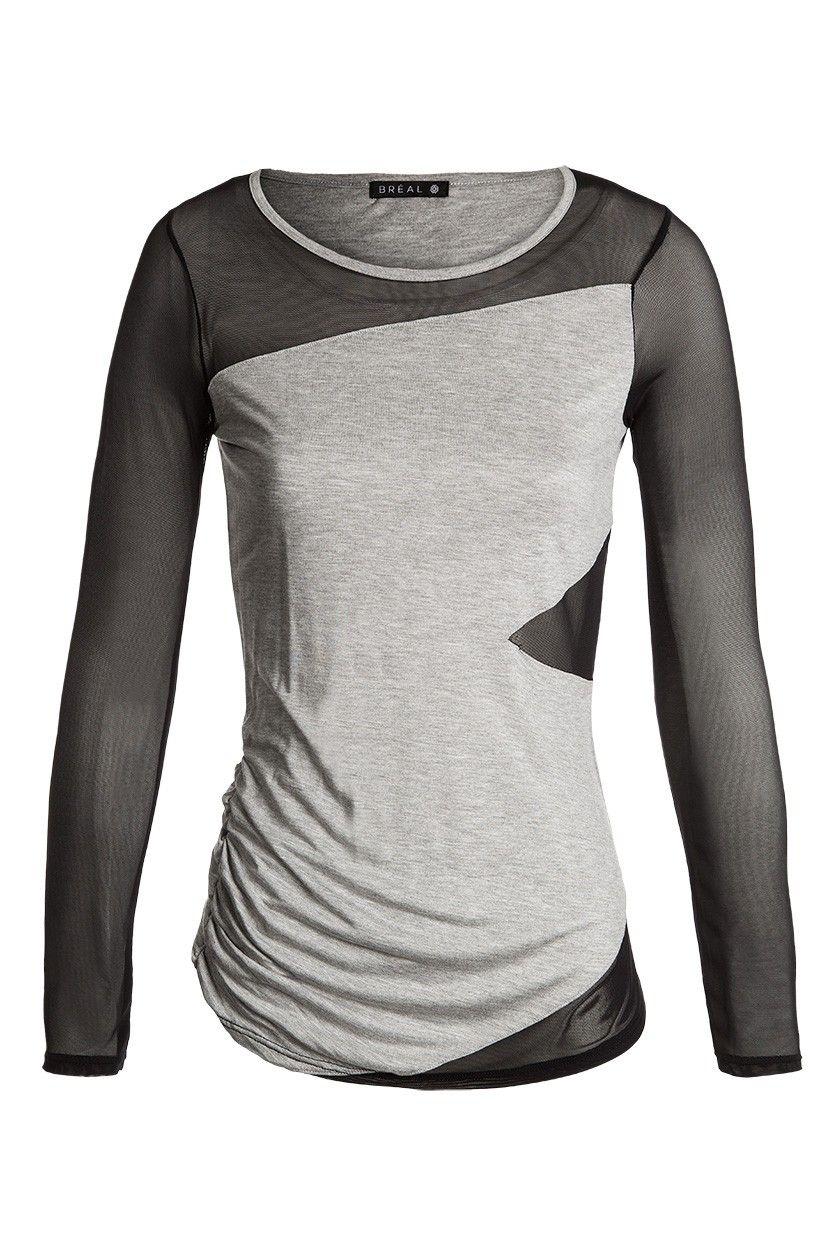 Nouvelle résille avec shirt longues Collection manches Tshirt T TqI6wvtx