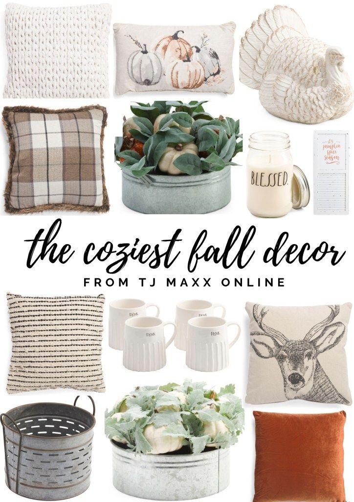 The Coziest Fall Decor From Tj Maxx Cozy Fall Decor Fall Decor Farmhouse Fall Decor