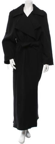 Chanel Wool Drape-Accented Coat