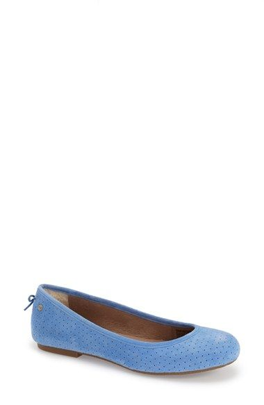 5cf81c286c4a UGG®  Karlina  Perforated Ballet Flat (Women) available at  Nordstrom