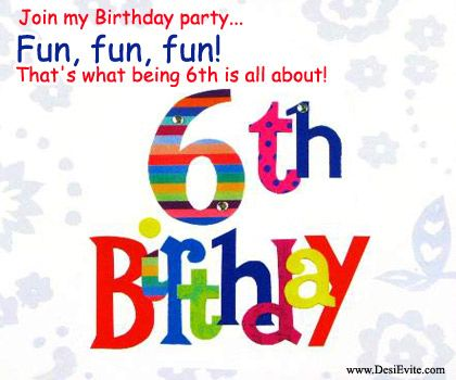6th birthday card to share with your family friends 6th birthday card to share with your family friends bookmarktalkfo Images