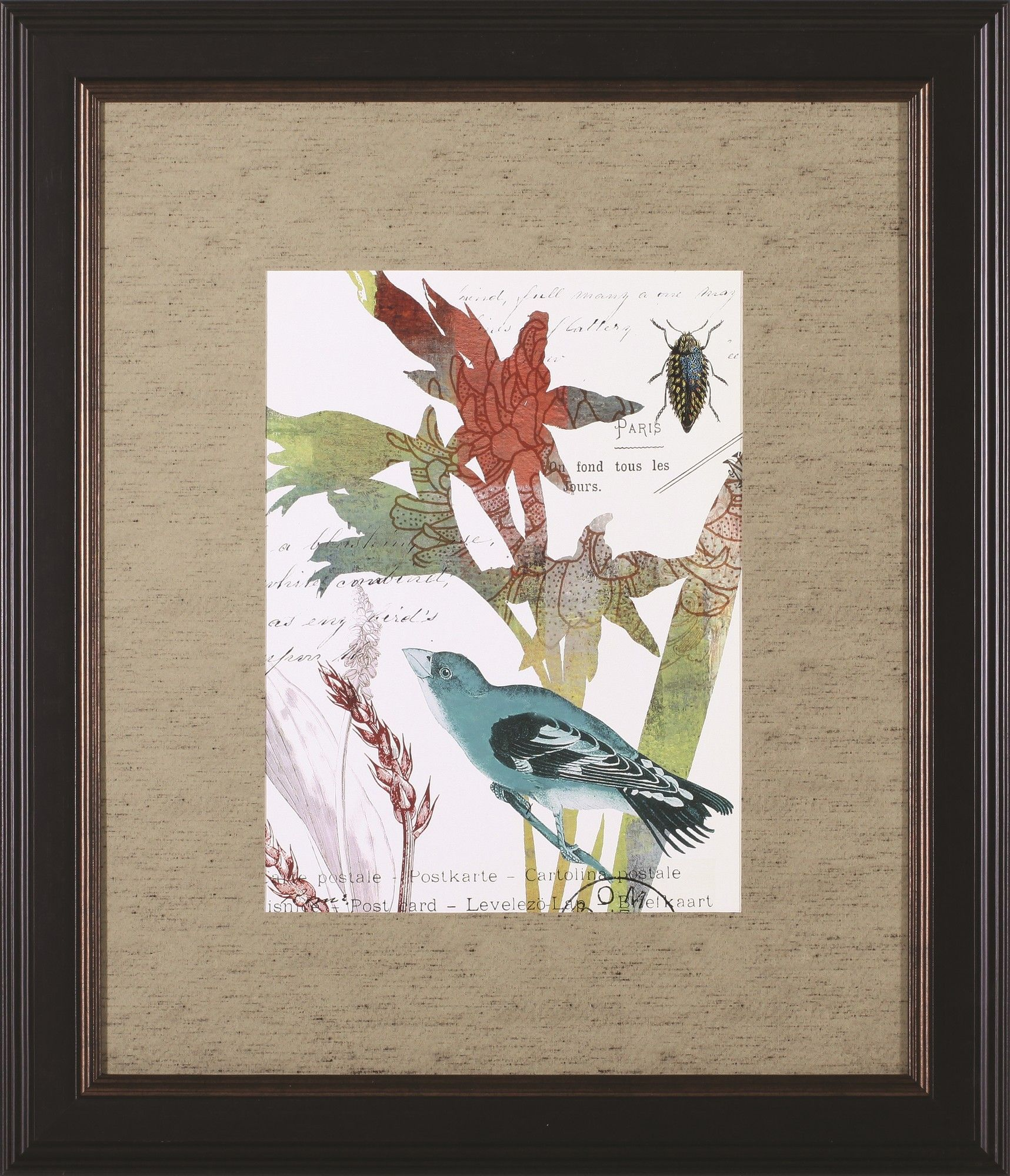 Exotic Blossom II\' by W. Green-Aldridge Framed Painting Print ...