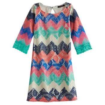My Michelle Chevron Crocheted Dress - Girls 7-16 #Kohls | Kids ...